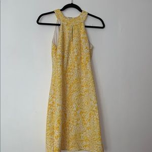 white and yellow vince camuto dress
